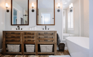 mccabinet custom wood bathroom sink