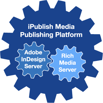 iPublish Media Publishing Platform comprised of InDesign Server and Rich Media Server.