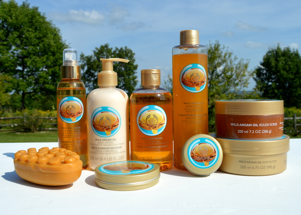 the body shop wild argan oil bath and body care collection review inhautepursuit
