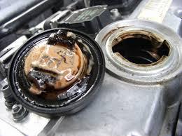 contaminated oil