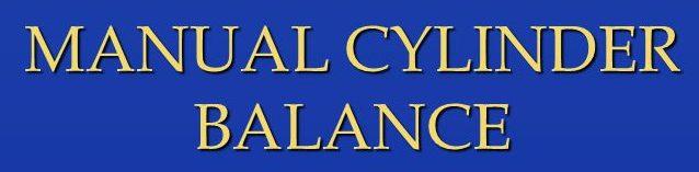 Manual Cylinder Balance Testing