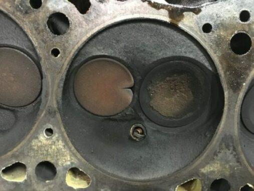 Burnt Exhaust Valve In Cylinder Head