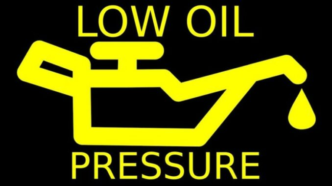 Low Engine Oil Pressure Symbol