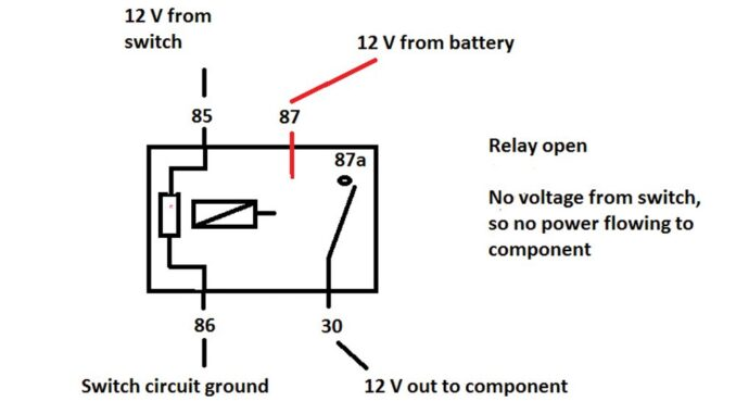 Open Relay, No voltage from switch.