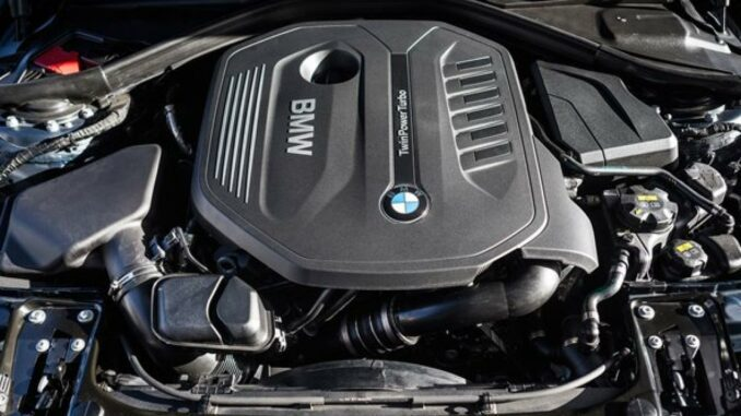 Turbocharger On BMW Engine