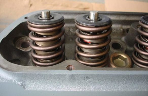 Valve Springs On Cylinder Head