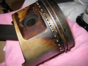 Worn Piston Rings On Piston
