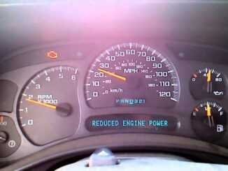 Reduced Engine Power On Dashboard