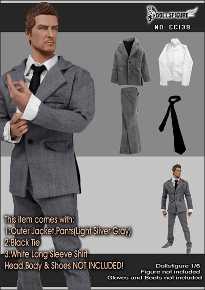 "1//6 Scale Men/'s Vest  White For 12/"" Male Hot Toys Figure Body"
