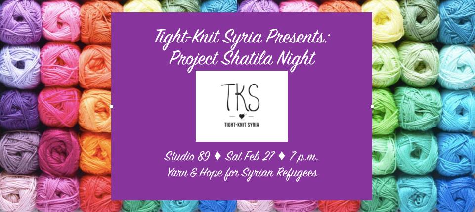 Tight Knit Syria project Shatila Syrian refugee charity organization social justice