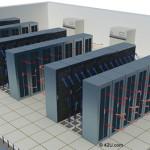Hot Aisle / Cold Aisle Server Rack Configuration