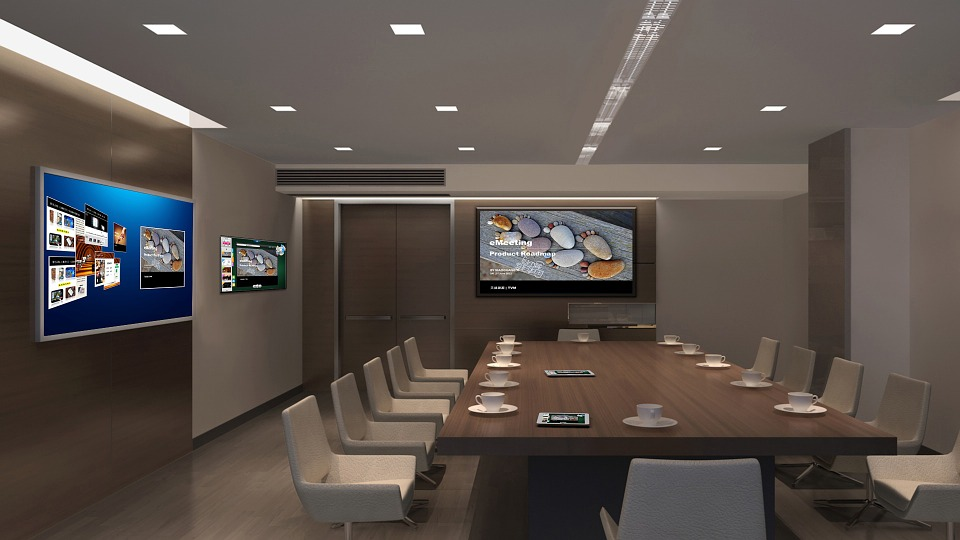 digital signage corporate office 42u data center solutions