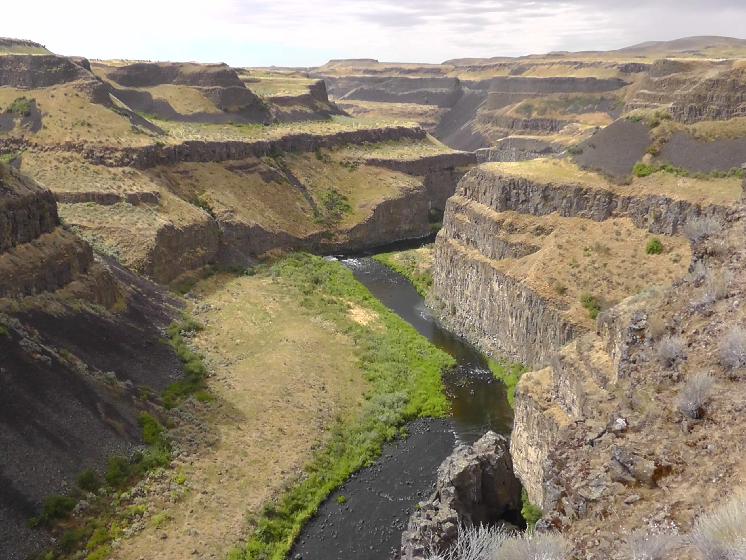 Downstream from Palouse Falls, Washington
