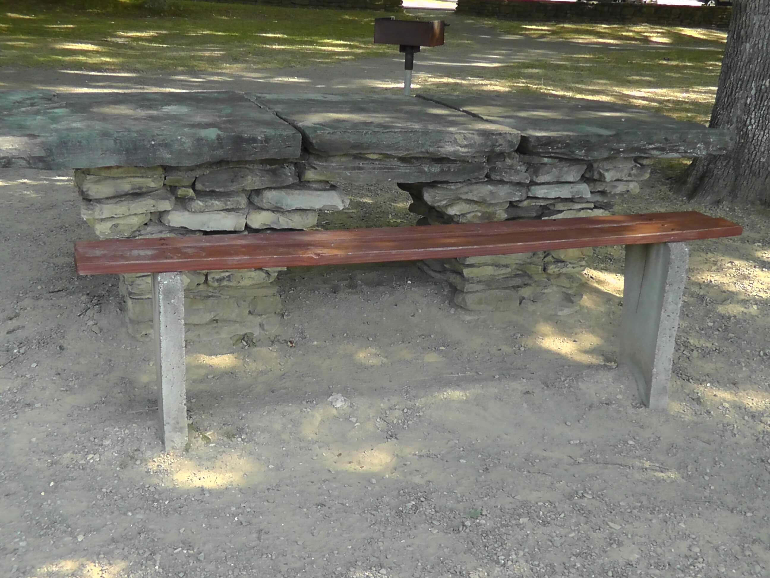Picnic table, Letchworth State Park, New York