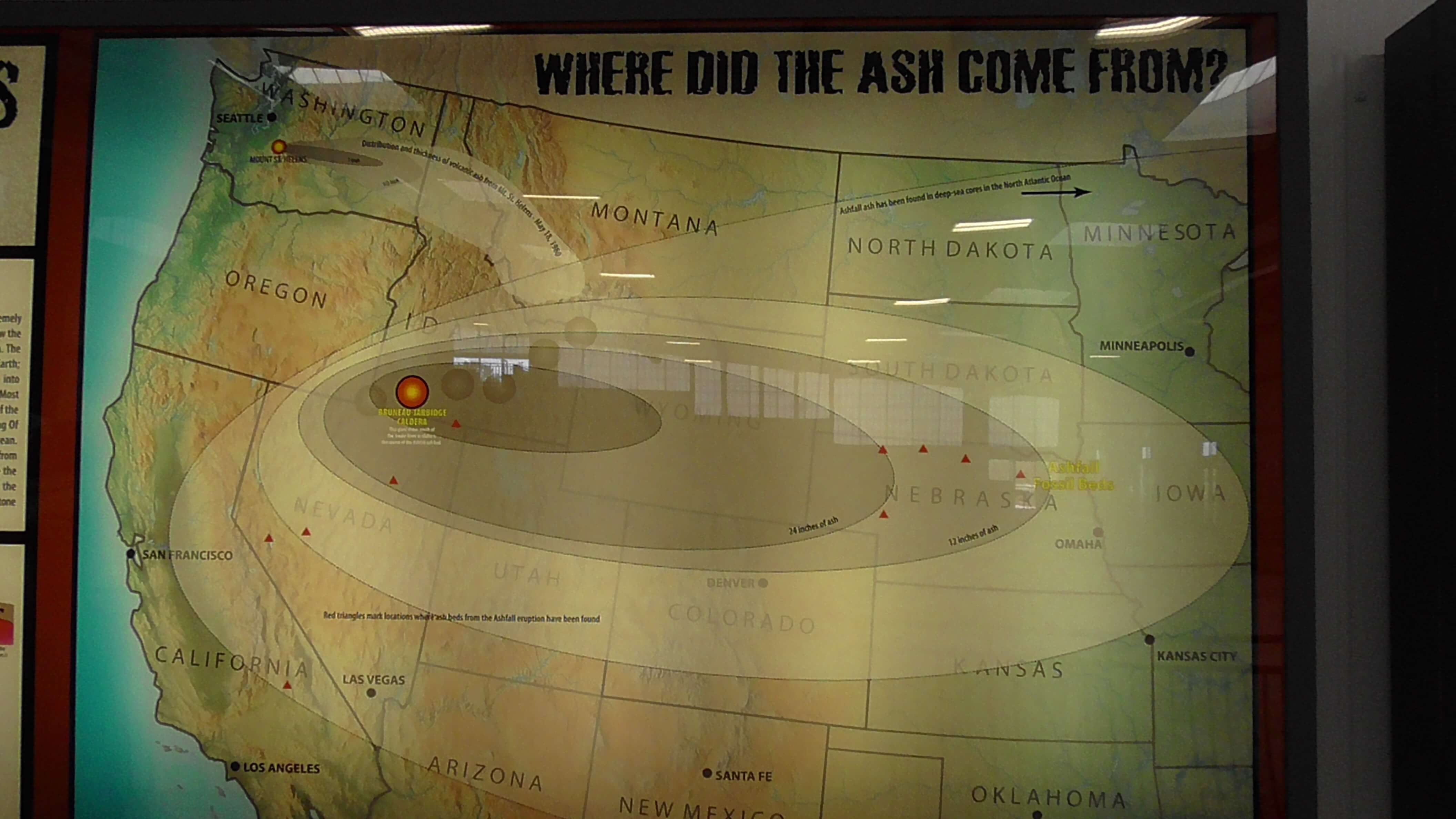 Map of ash fall from the eruption