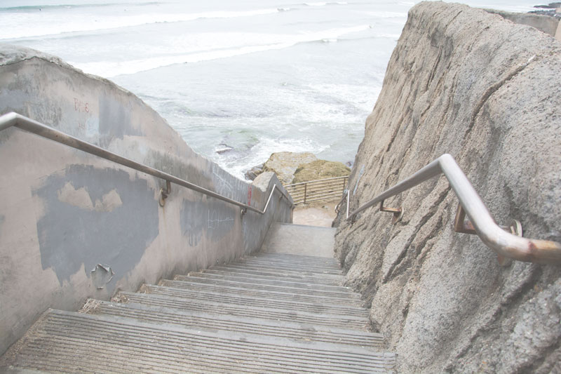 sea cliff stairs