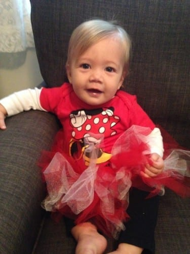 Baby in Minnie Mouse Outfit Disney on Ice South FL