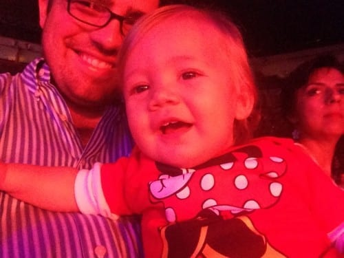 Happy baby at Disney on Ice South FL