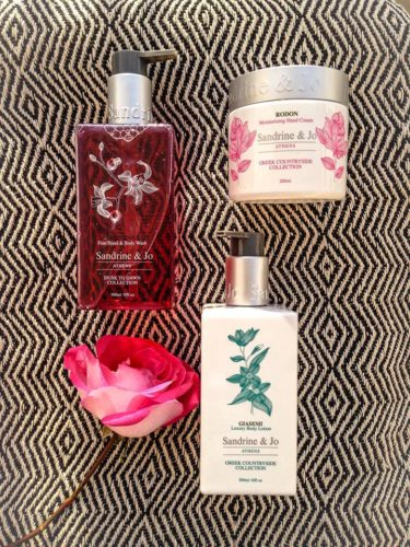 body wash and body lotion