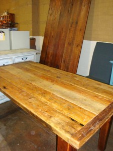 """66"""" x 35"""" Old Pine, Thick Top"""