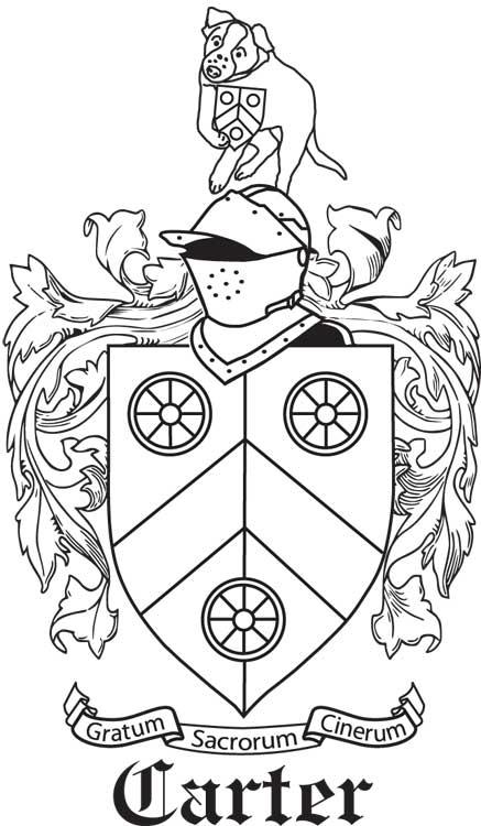 Custom family crest made for Elizabeth Carter