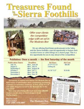 Sales advertising flyer for a real estate special section