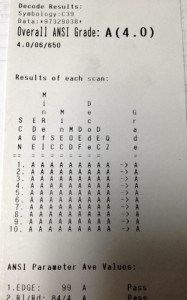 ANSI Score Ticket
