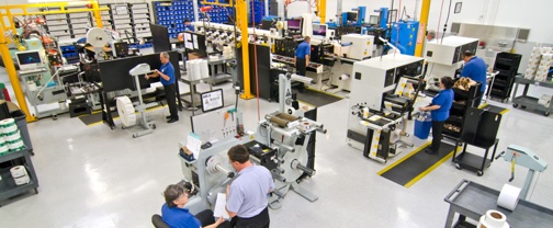 Label manufacturing floor