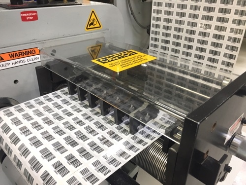 Barcodes on press