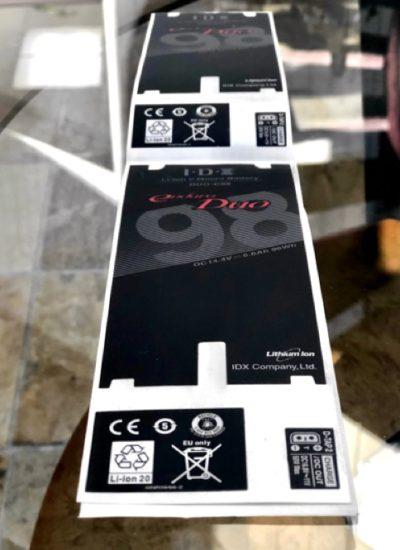 Custom die cut battery label