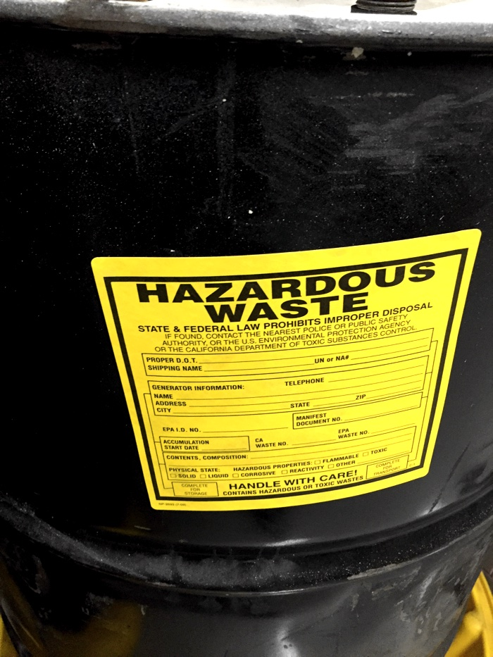 chemical drum label