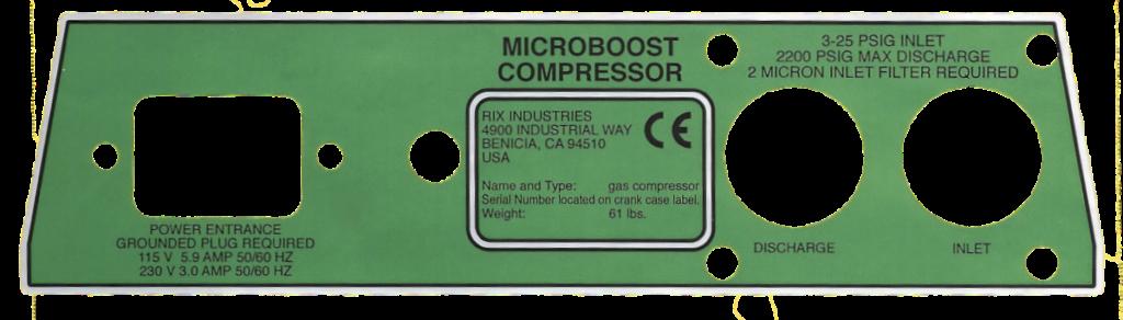 Custom Die Cut Nameplate