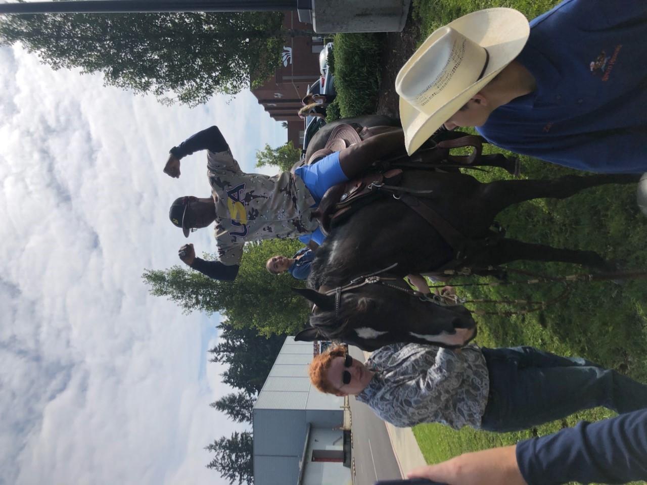 Coach Tom Eaton feeling great on horseback
