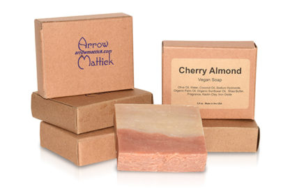 Arrow Mattick cherry almond handmade soap