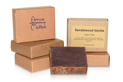 Arrow Mattick sandalwood vanilla handmade soap