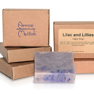 Arrow Mattick lilac and lillies handmade soap