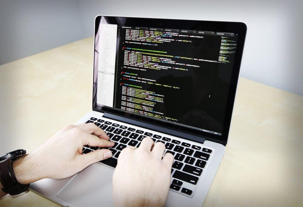Coding on Laptop