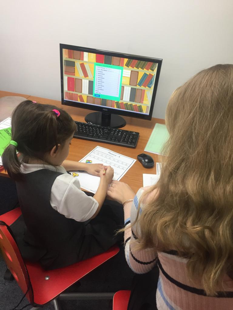 Image of a student with a tutor.