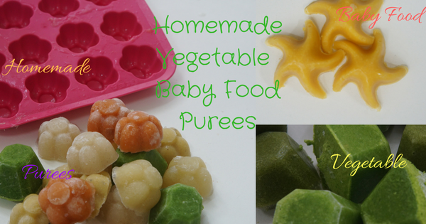 Homemade Vegetable Baby Food Purees