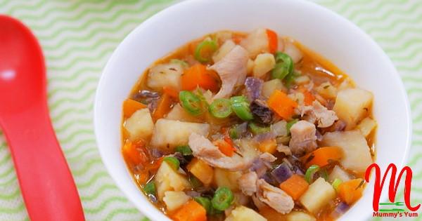 Yam, sweet potato and chicken combo