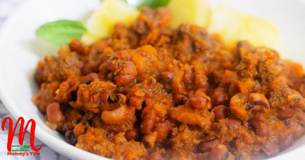 minced meat and beans