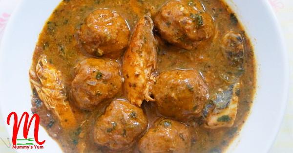 meatball ogbono soup