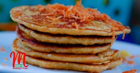 Carrot and Oats Pancake