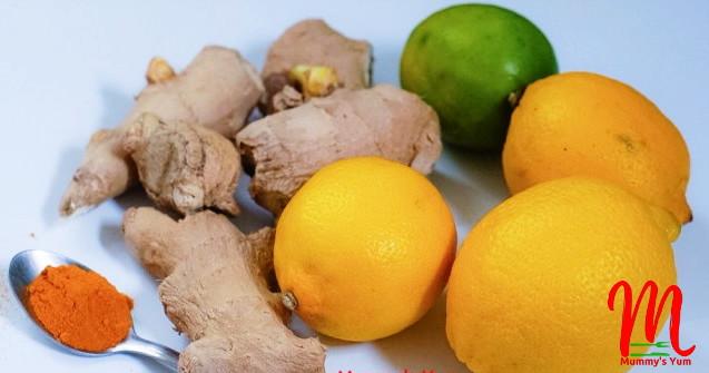 ginger lemon turmeric cough paste