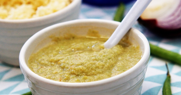 Green Beans Puree with Chicken