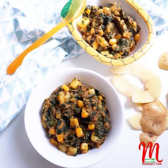 potato corn and vegetables