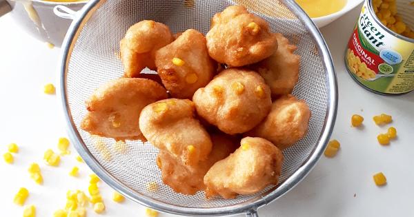 Akara balls with sweetcorn