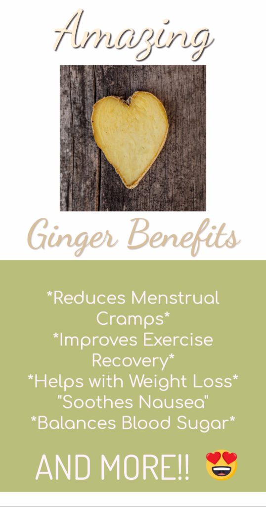 Ginger can be an amazingly healing herb. See how it can help with menstrual cramps, nausea, exercise recovery and more!