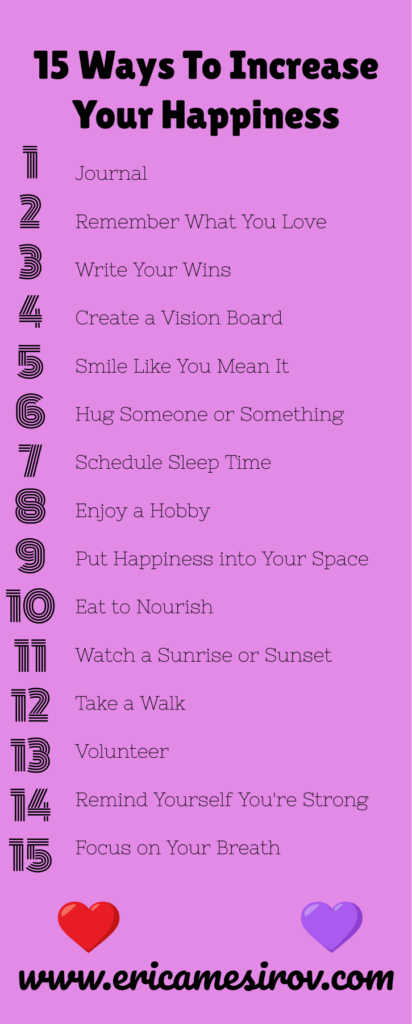 15 Ways to Increase Your Happiness