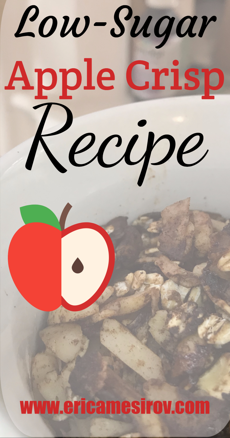 Healthy Apple Crisp Recipe. Low-sugar & gluten-free. Less than 2 grams of added sugar per serving #diet #dessert #low-glycemic #all-natural #skinny